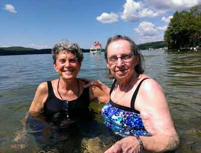 Residents Swim at Spofford Lake